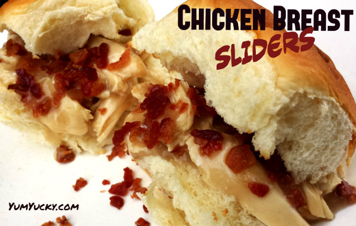 chicken breast sliders Chicken Breast Sliders with Gravy and Bacon