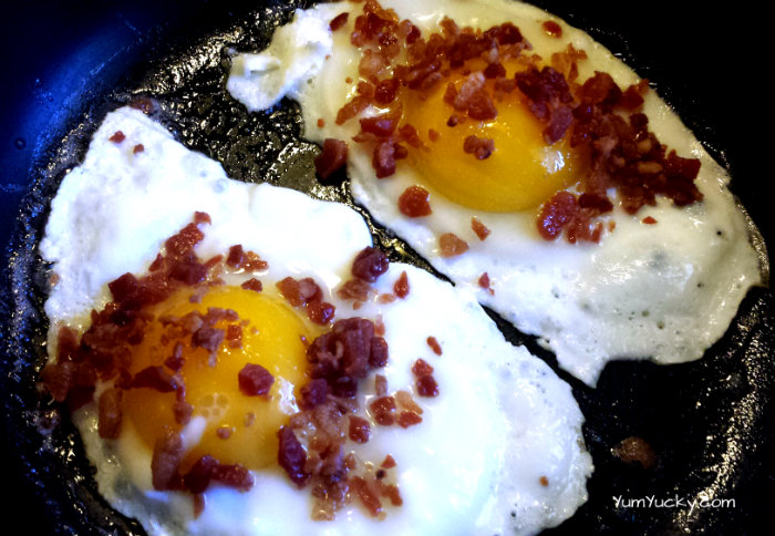 healthy bacon and eggs